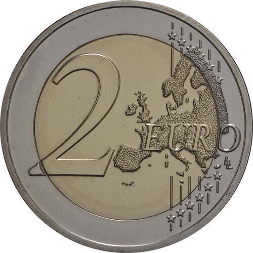 Vorderseite:Belgien : 2 Euro Studentenaufstand 1968  2018 Stgl.