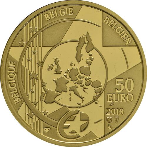 Rückseite:Belgien : 50 Euro Rubens  2018 PP