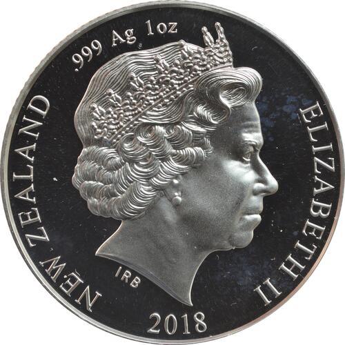 Rückseite:Neuseeland : 1 Dollar Royal Wedding - Harry & Meghan  2018 PP
