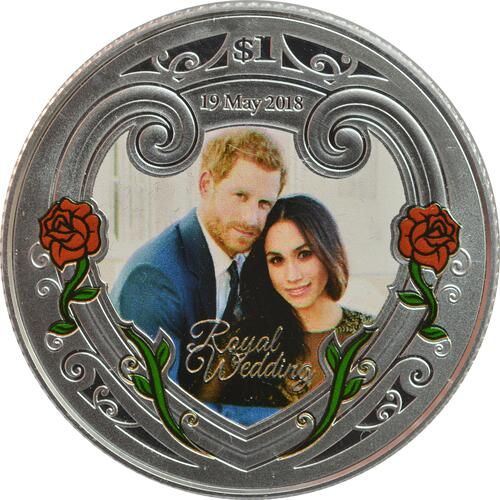 Vorderseite:Neuseeland : 1 Dollar Royal Wedding - Harry & Meghan  2018 PP
