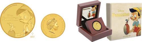 Lieferumfang :Niue : 25 Dollar Disney´s Pinocchio  2018 PP