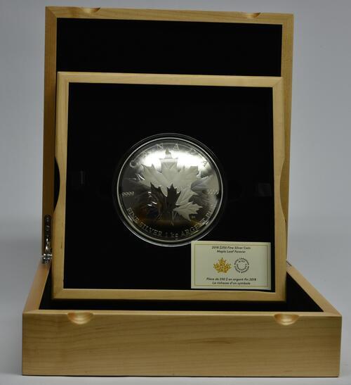 Lieferumfang:Kanada : 250 Dollar Maple Leaf Forever - konvex 1 kg  2018 PP