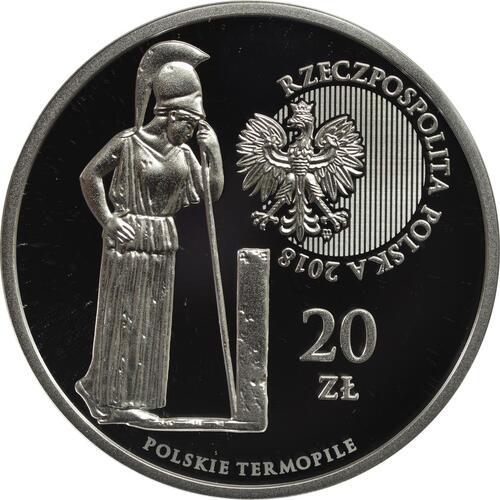Rückseite:Polen : 20 Zloty Das Polnische Thermopylae - Hodow  2018 PP