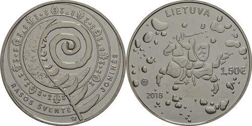 Lieferumfang:Litauen : 1,5 Euro Jonines (Rasos)  2018 bfr