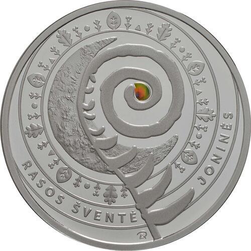 Vorderseite:Litauen : 5 Euro Jonines (Rasos)  2018 PP