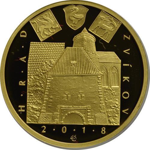 Vorderseite:Tschechische Republik : 5000 Kronen Burg Zvikov - Tschechische Burgen  2018 PP