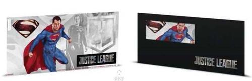 Lieferumfang:Niue : 1 Dollar Justice League – Superman Silberbanknote  2018 Stgl.