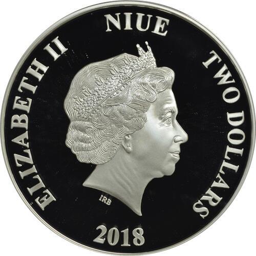 Rückseite:Niue : 2 Dollar Star Wars - Darth Maul  2018 PP