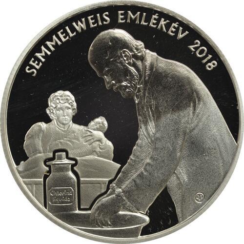 Rückseite:Ungarn : 10000 Forint 200. Geburtstag Ignaz Semmelweis  2018 PP