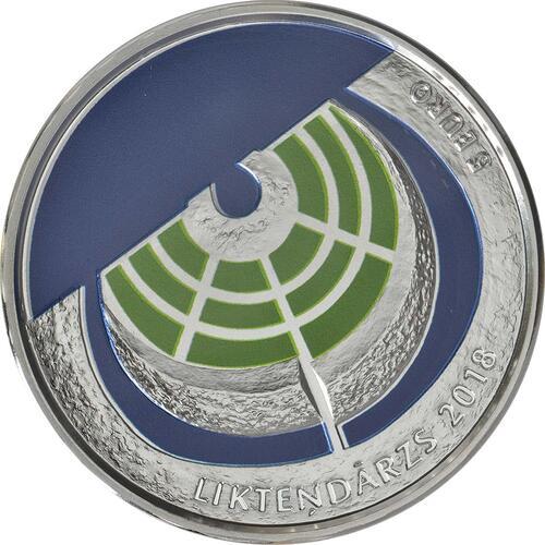 Vorderseite:Lettland : 5 Euro Der Garten des Schicksals  2018 PP