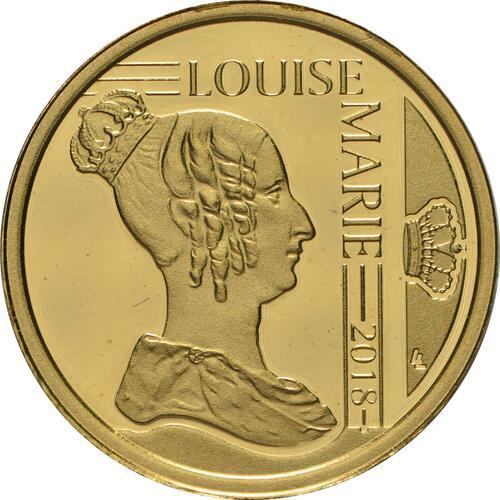 Vorderseite:Belgien : 12,5 Euro Königin Louise Marie d´Orleans  2018 PP