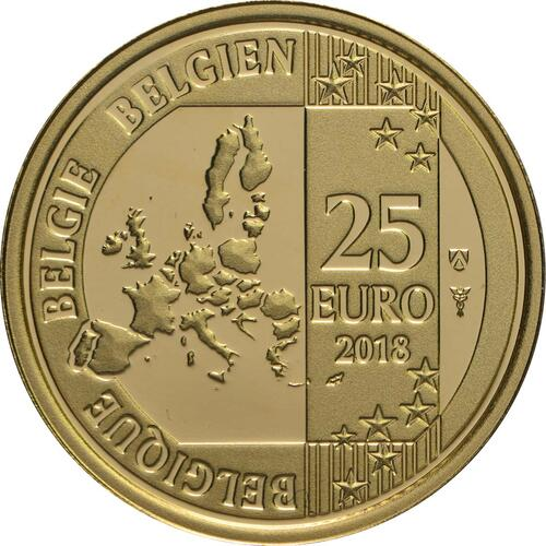 Rückseite:Belgien : 25 Euro Hugo Claus  2018 PP