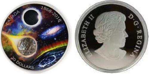 Lieferumfang:Kanada : 20 Dollar 150 J. Astronomische Gesellschaft Canadas  2018 PP