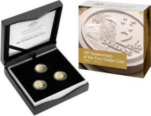 """Lieferumfang:Australien : 6 Dollar Anniversary Set - 30 Jahre """"2 Dollar Münze""""  2018 PP"""