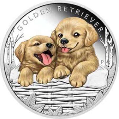Lieferumfang:Tuvalu : 50 Cent Hundebabies - Golden Retriever  2018 PP