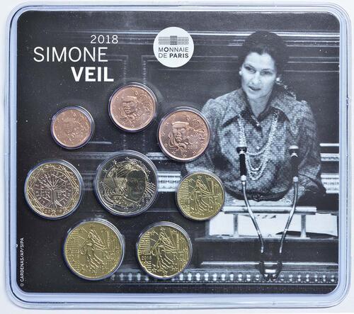Lieferumfang:Frankreich : 3,88 Euro Mini KMS Simone Veil  2018 bfr