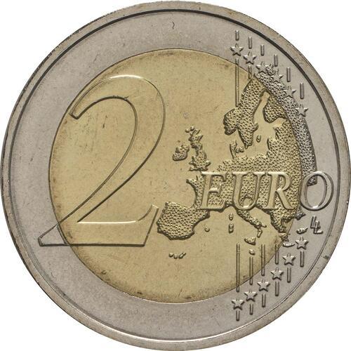Vorderseite:Portugal : 2 Euro 250 Jahre Botanischer Garten von Ajuda  2018 bfr