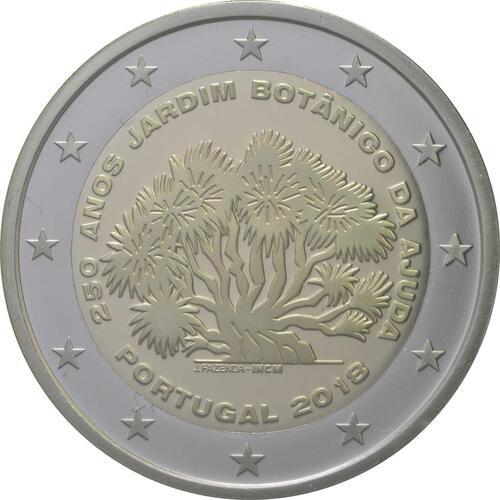 Rückseite:Portugal : 2 Euro 250 Jahre Botanischer Garten von Ajuda  2018 PP