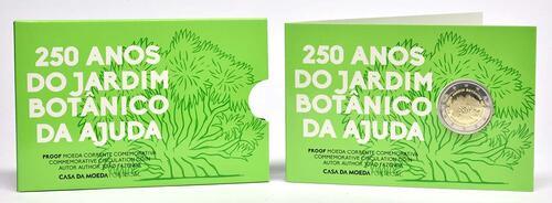 Lieferumfang:Portugal : 2 Euro 250 Jahre Botanischer Garten von Ajuda  2018 PP