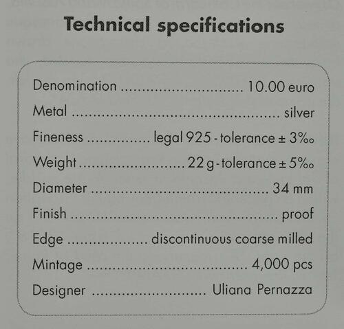 Zertifikat:Italien : 10 Euro Apulien Kathedrale von Trani  2018 PP