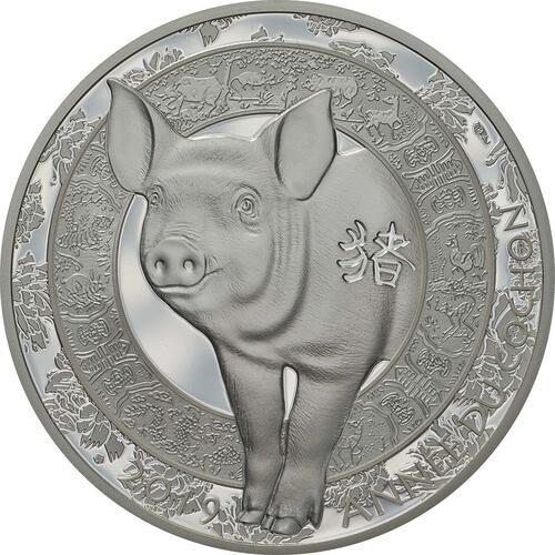 Vorderseite:Frankreich : 10 Euro Jahr des Schweines  2019 PP