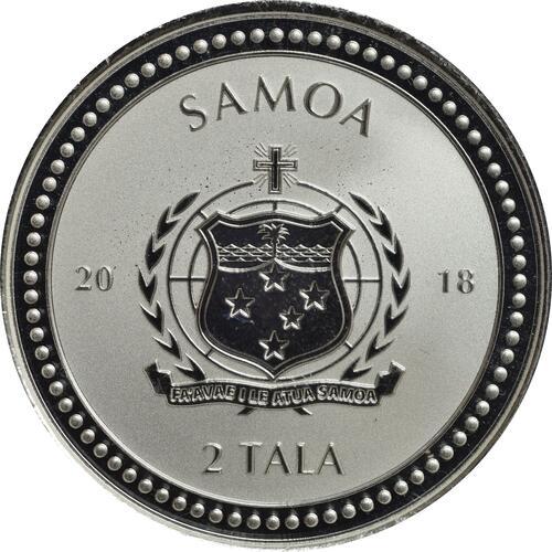 Rückseite:Samoa : 2 Tala Seepferdchen  2018 P/L