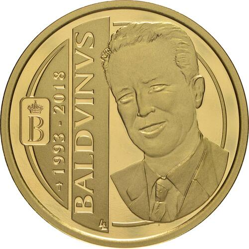 Vorderseite:Belgien : 100 Euro 25. Todestag König Baudouin  2018 PP