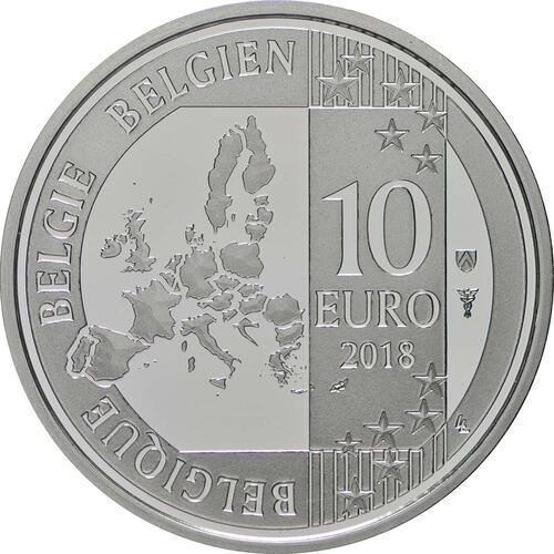 Rückseite:Belgien : 10 Euro Jacques Brel  2018 PP
