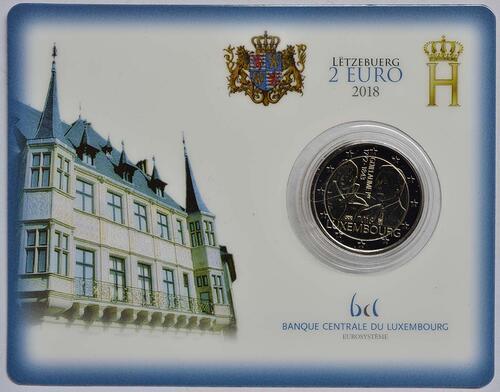 Lieferumfang:Luxemburg : 2 Euro 175. Todestag von Großherzog Guillaume I. - Münzzeichen Brücke  2018 Stgl.