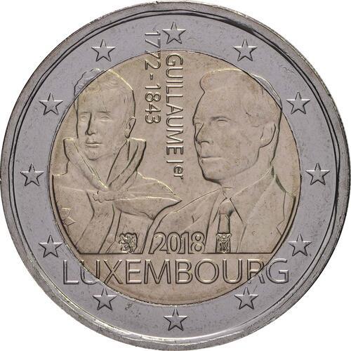 Rückseite:Luxemburg : 2 Euro 175. Todestag von Großherzog Guillaume I.  2018 bfr