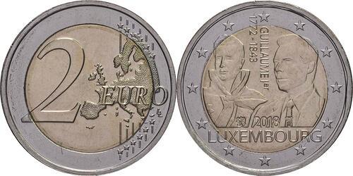Lieferumfang:Luxemburg : 2 Euro 175. Todestag von Großherzog Guillaume I.  2018 bfr