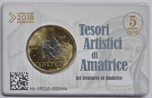 Zertifikat:Italien : 5 Euro Kunstschätze von Amatrice  2018 bfr