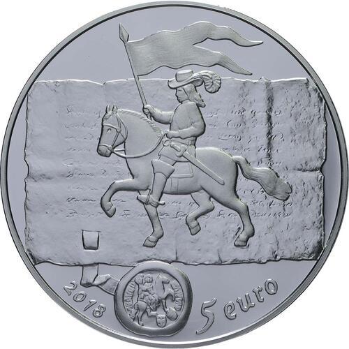 Rückseite:Lettland : 5 Euro Kuronische Könige / Konini  2018 PP