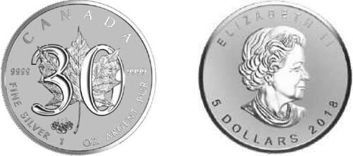 Lieferumfang:Kanada : 5 Dollar Maple Leaf 1 oz - Privy Mark ANA Pennsylvania  2018 PP