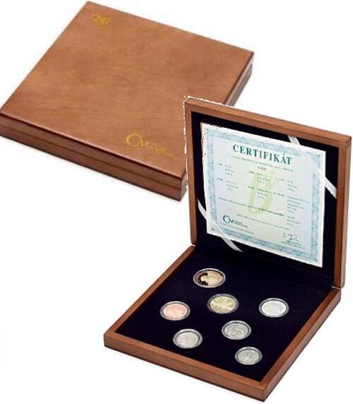Lieferumfang:Tschechische Republik : 88 Kronen Kursmünzensatz - Luxusedition in Holzbox  2018 PP
