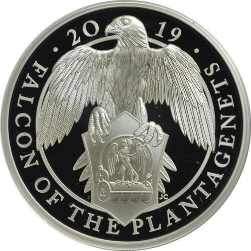 Vorderseite:Großbritannien : 2 Pfund The Queen's Beast - Falcon of the Plantagenets  2019 PP