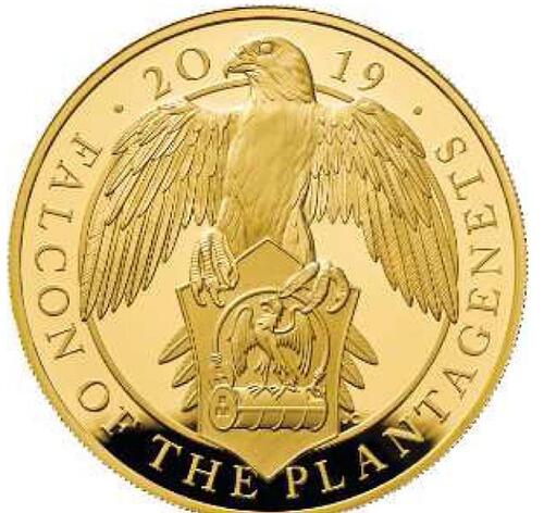 Lieferumfang:Großbritannien : 100 Pfund The Queen's Beast - Falcon of the Plantagenets  2019 PP