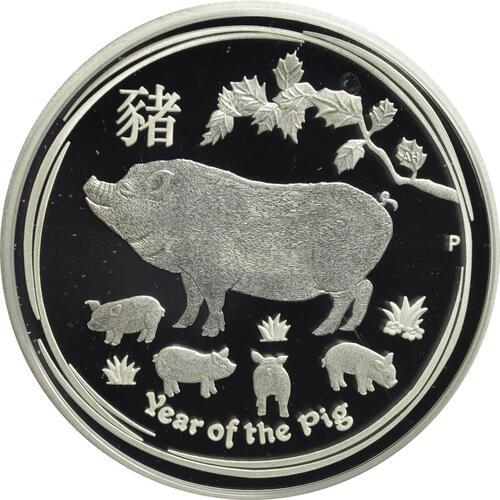 Vorderseite:Australien : 50 Cent Jahr des Schweins  2019 PP