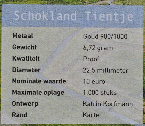 Zertifikat:Niederlande : 5 Euro Schokland  2018 PP