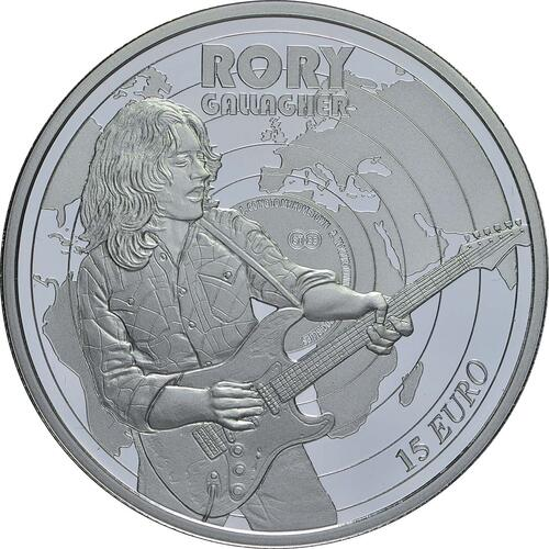 Vorderseite:Irland : 15 Euro Rory Gallagher  2018 PP