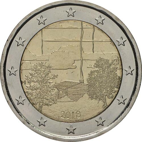 Rückseite:Finnland : 2 Euro Finnische Saunakultur  2018 bfr