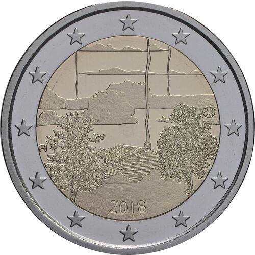 Rückseite:Finnland : 2 Euro Finnische Saunakultur  2018 PP