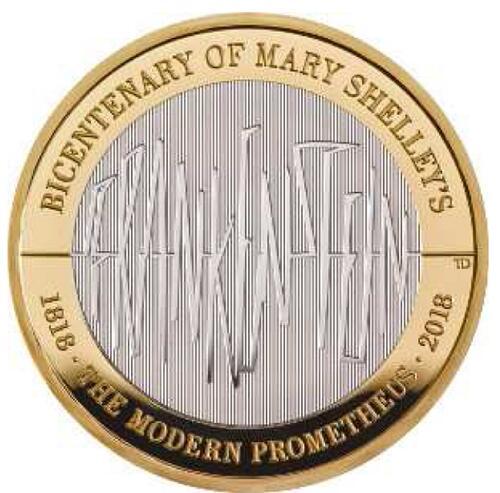 Lieferumfang:Großbritannien : 2 Pfund 200 J. Mary Shelley´s Frankenstein  2018 PP