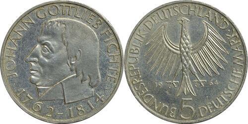 Lieferumfang:Deutschland : 5 DM Fichte  1964 f.vz.