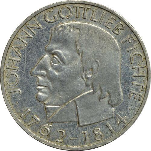 Vorderseite:Deutschland : 5 DM Fichte  1964 f.vz.