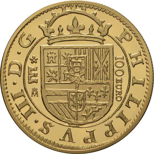 Rückseite:Spanien : 100 Euro Philip III.  2018 PP