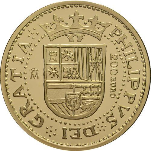 Rückseite:Spanien : 200 Euro Philip II.  2018 PP