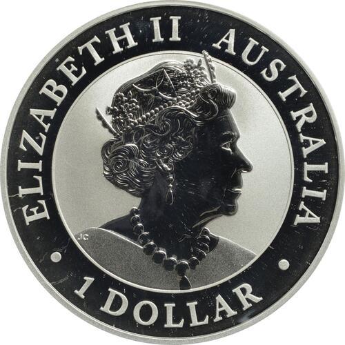 Rückseite:Australien : 1 Dollar Kookaburra  2019 Stgl.