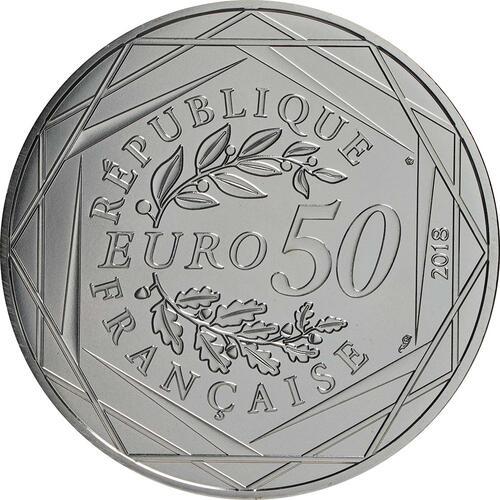 Rückseite:Frankreich : 50 Euro Mickey und Minnie in Montmartre 2/2  2018 bfr