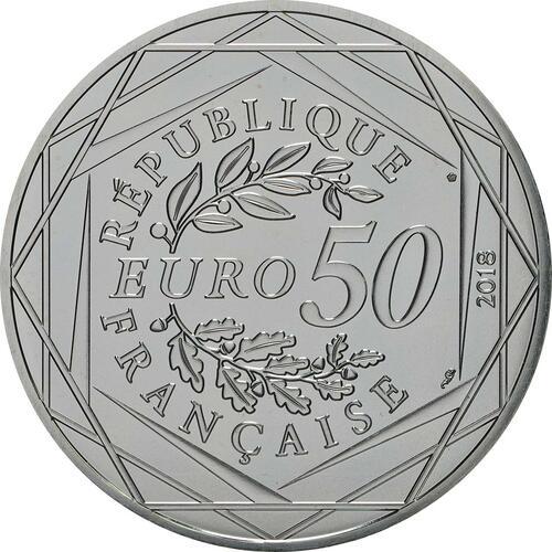 Rückseite:Frankreich : 50 Euro Mickey auf der Champs Elysées coloriert 2/2  2018 bfr